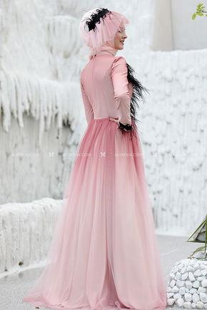 - Sema Şimşek - Mehlika Evening Dress Dusty Rose (1)