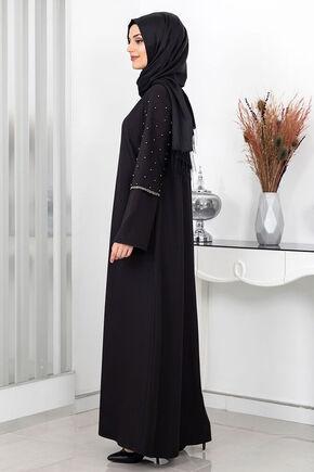Siyah Açelya Ferace - SUR16000 - Thumbnail