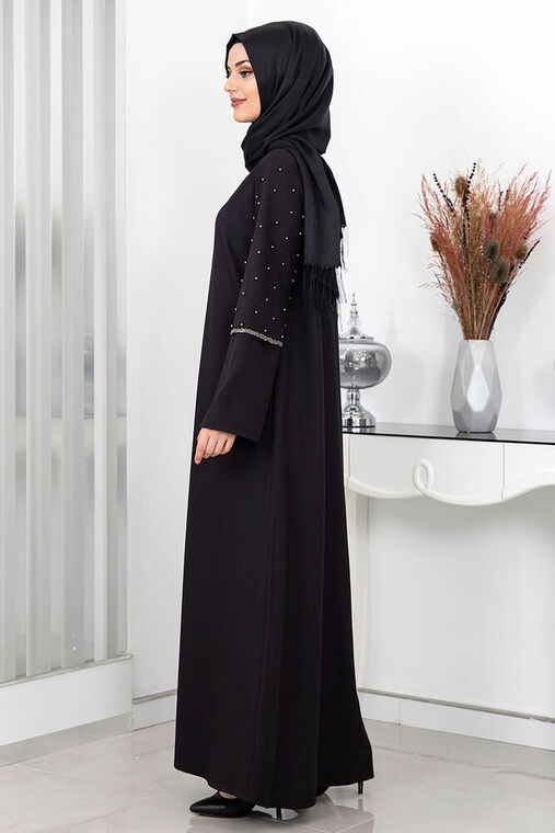 Siyah Açelya Ferace - SUR16000