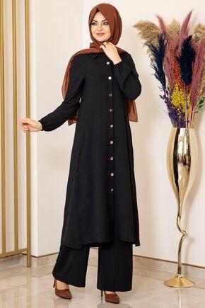 Fashion Showcase - Siyah Aerobin Nergis Takım - FS16086