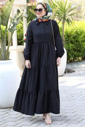 Seda Tiryaki - Siyah Alaçatı Elbise - ST15899