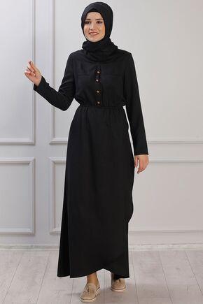 Rana Zenn - Siyah Ayça Elbise - RZ153381