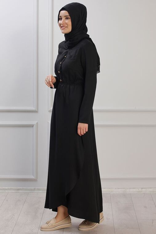 Siyah Ayça Elbise - RZ153381