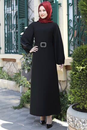 Emsale - Siyah Aycan Elbise - ES15882