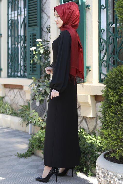 Siyah Aycan Elbise - ES15882