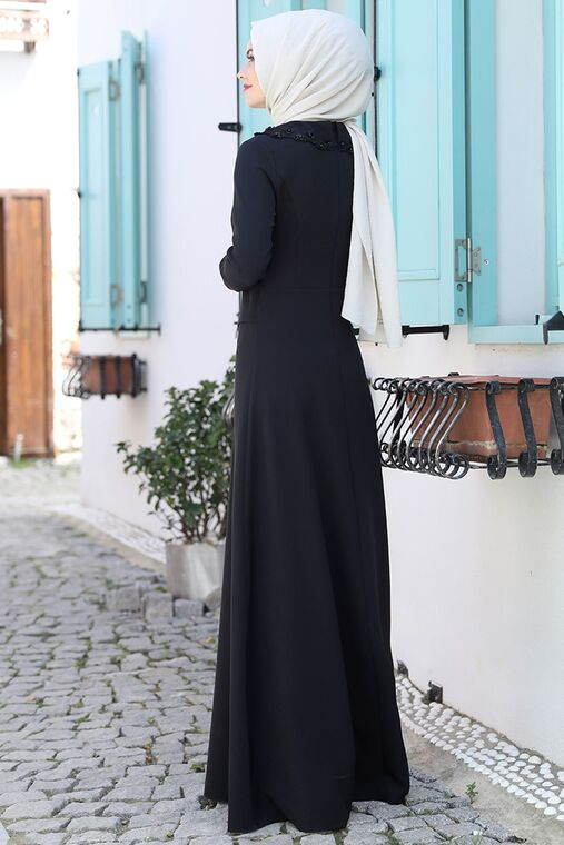 Siyah Ayliz Elbise - AHU15953