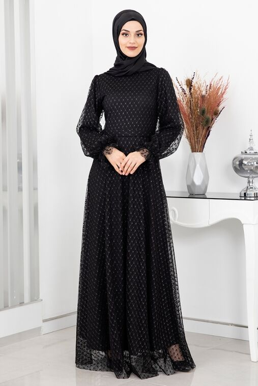 Rana Zenn - Siyah Aysude Abiye - RZ16063