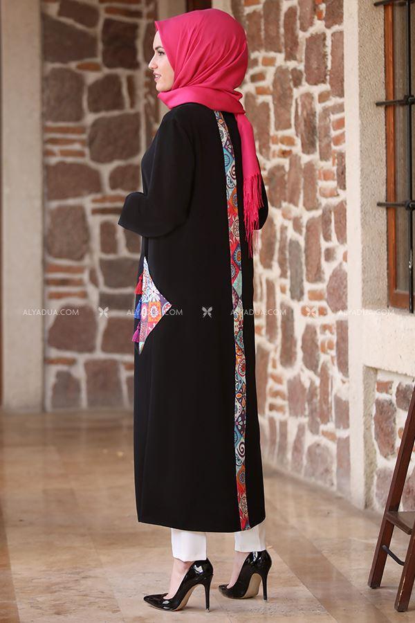 Alyadua - Siyah Beren Etnik Ferace Tunik - AD13547 (1)