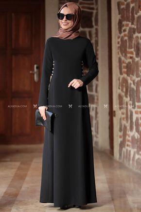 Rana Zenn - Siyah Beste Elbise - RZ12861