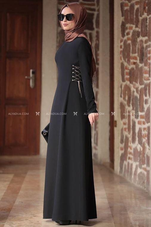 - Siyah Beste Elbise - RZ12861 (1)
