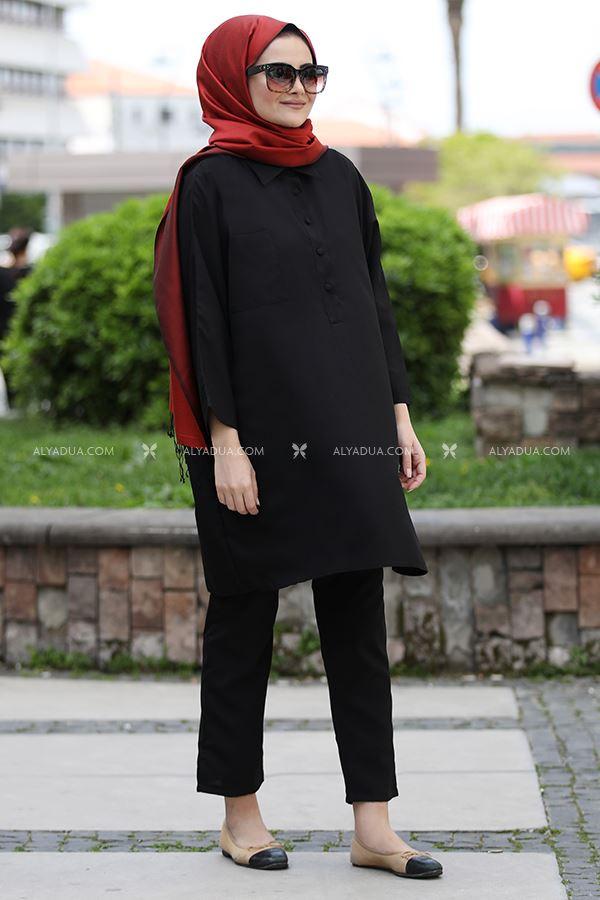 Seda Tiryaki - Siyah Beyza İkili Takım - ST13688 (1)