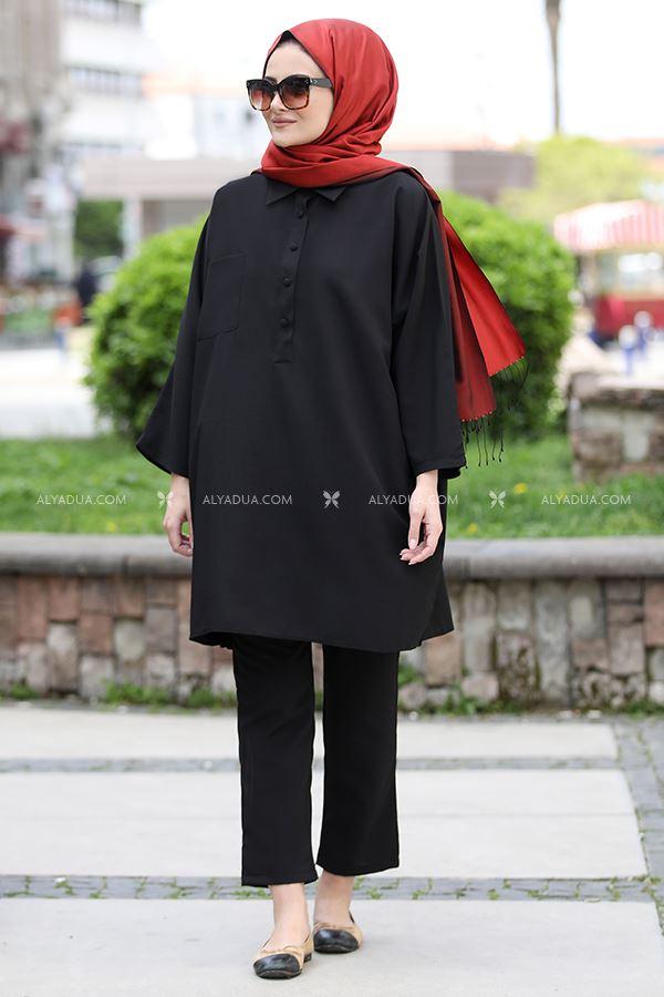Seda Tiryaki - Siyah Beyza İkili Takım - ST13688