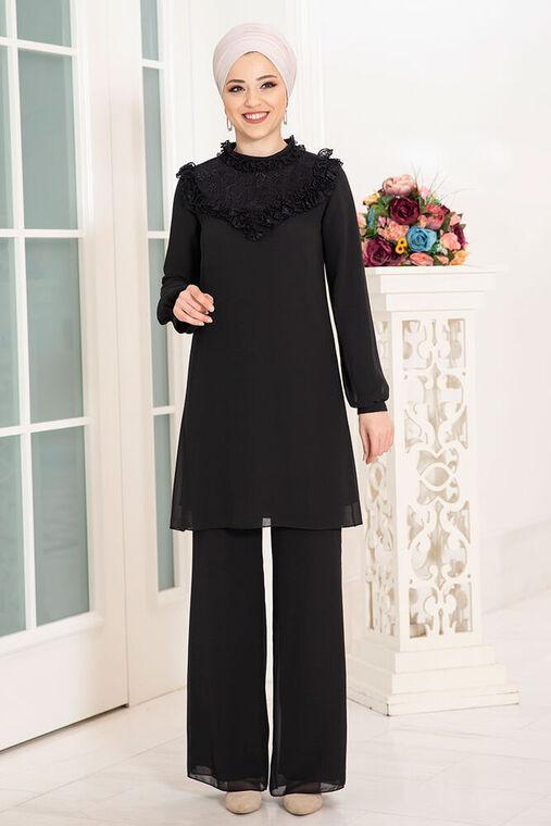 Dress Life - Siyah Burçak İkili Takım - DL16123