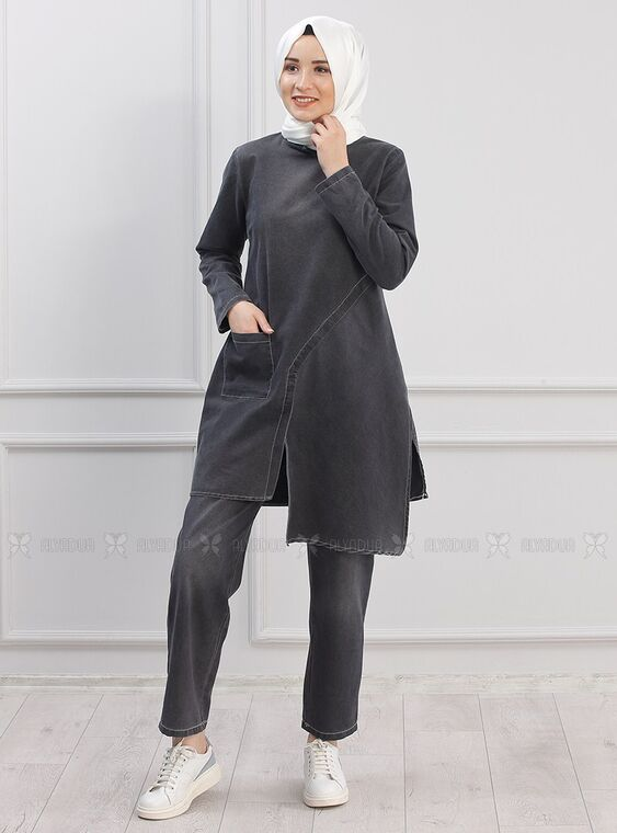 Piennar - Siyah Çapraz Kot Takım - PN15296
