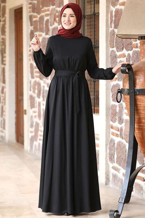 Rana Zenn - Siyah Ceren Elbise - RZ15828