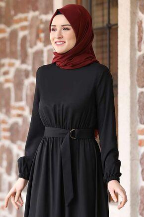 Siyah Ceren Elbise - RZ15828 - Thumbnail