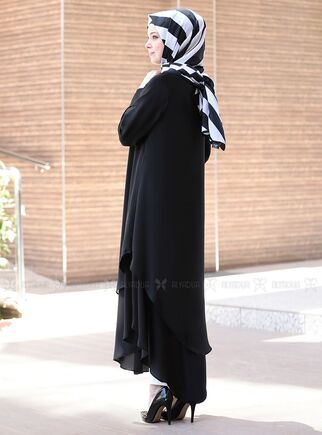 Siyah Çift Katlı Tunik - ES15043 - Thumbnail