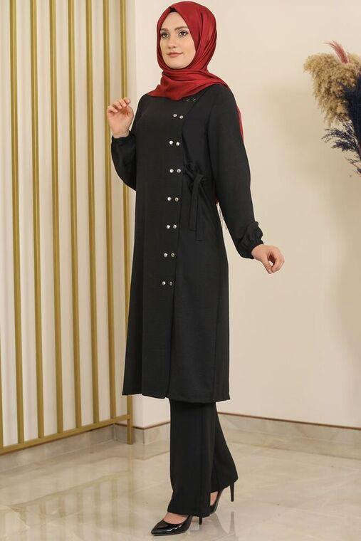 Siyah Çıtçıt Detay İkili Takım - FS16392