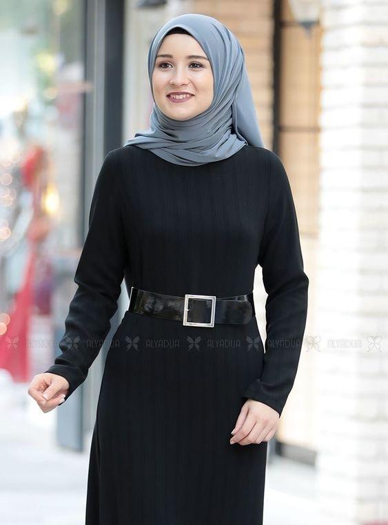 Siyah Damla Elbise - RZ14233