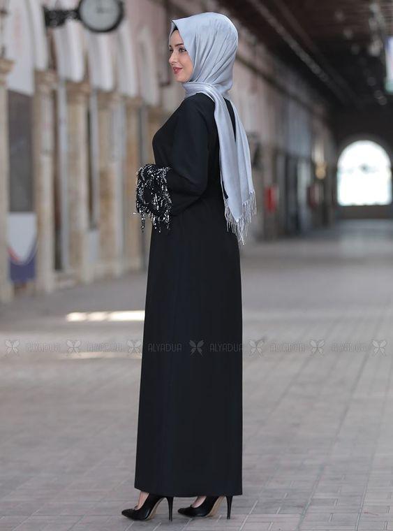 Siyah Duru Elbise - ES14442