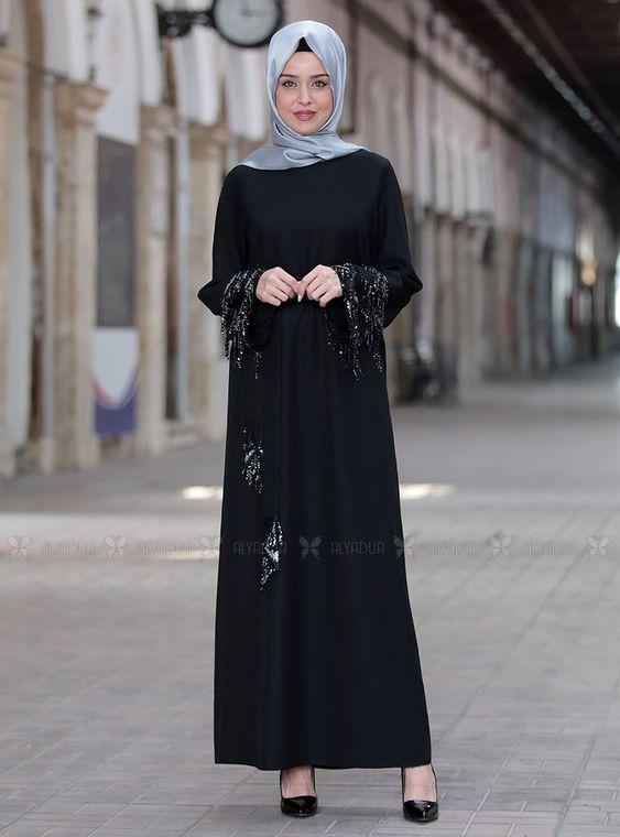 Emsale - Siyah Duru Elbise - ES14442