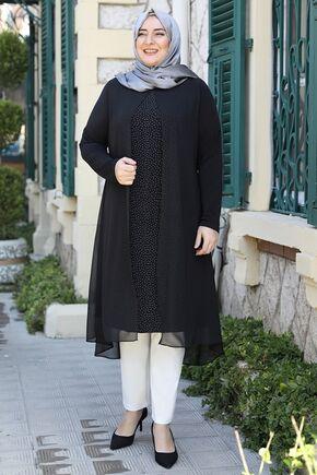 Emsale - Siyah Efsun Tunik - ES15919