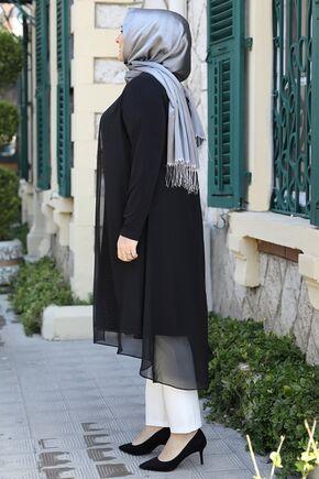Siyah Efsun Tunik - ES15919 - Thumbnail