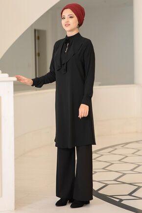 Dress Life - Siyah Ekin Tunik - DL15684