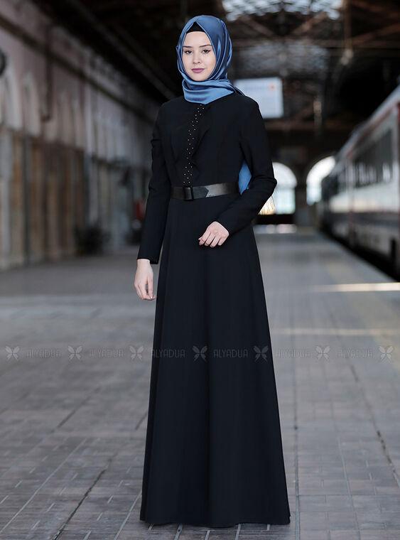 Sefanisa - Siyah Ela Elbise - SFN15014