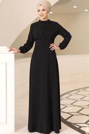 Siyah Ahsen Elbise - DL15800 - Thumbnail