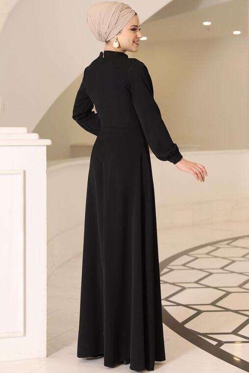 Siyah Ahsen Elbise - DL15800