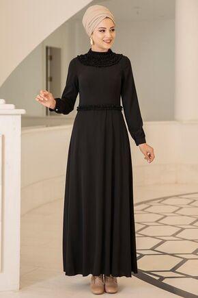 Dress Life - Siyah Eslem Elbise - DL15689