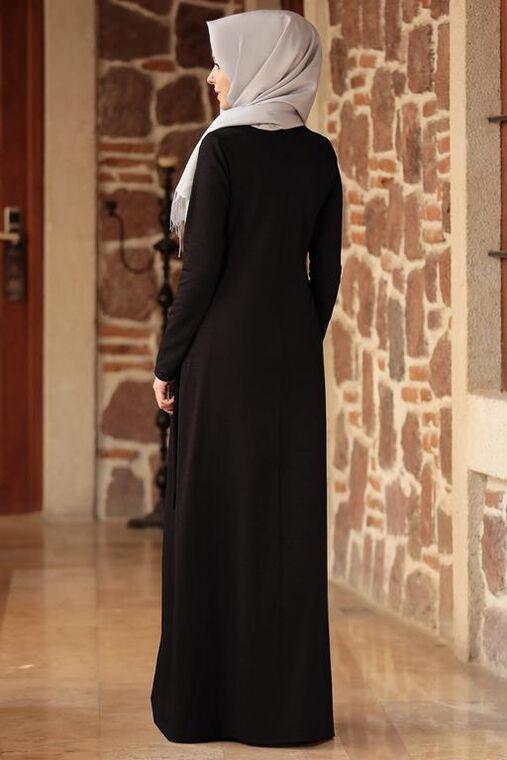 Siyah Eylem Elbise - ES15628