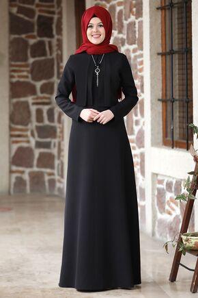 Nidya Moda - Siyah Eylül Elbise - NM15790