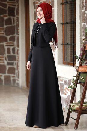 Siyah Eylül Elbise - NM15790 - Thumbnail