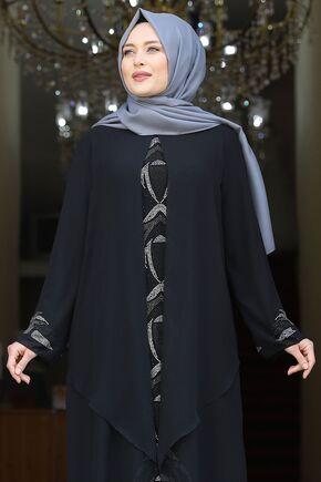 Siyah Fulya Abiye - AMH16109 - Thumbnail