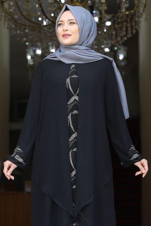 Siyah Fulya Abiye - AMH16109
