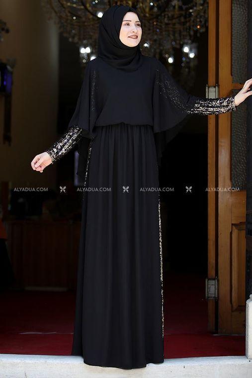 Rana Zenn - Siyah Güneş Abiye - RZ13927