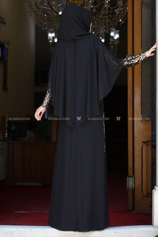 Rana Zenn - Siyah Güneş Abiye - RZ13927 (1)