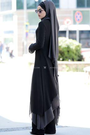 - Siyah Havin Tunik Pantolon Takım - PR12162 (1)