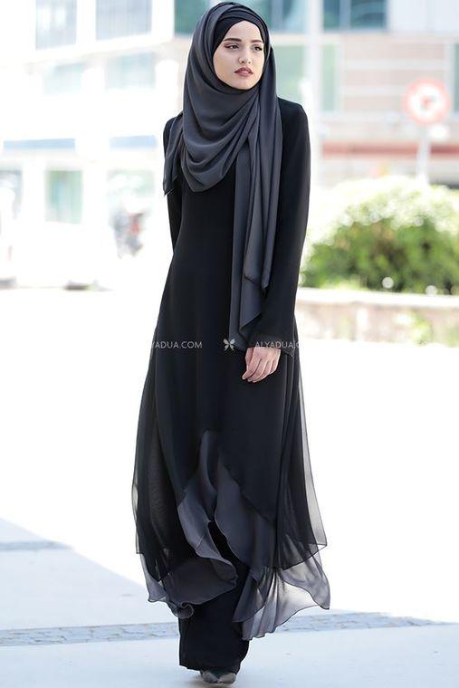 Piennar - Siyah Havin Tunik Pantolon Takım - PR12162