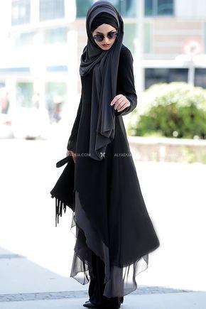 Siyah Havin Tunik Pantolon Takım - PR12162 - Thumbnail