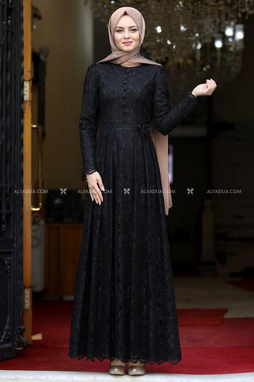 Ahunisa - Siyah Henna Abiye - AHU13993