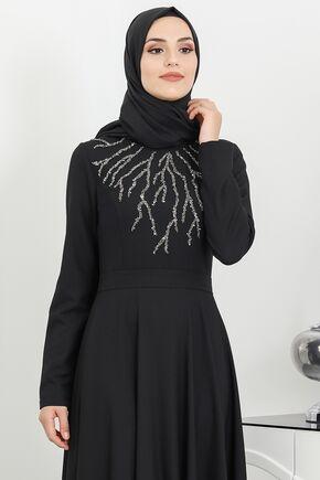Siyah Hilal Abiye - SUR16270 - Thumbnail