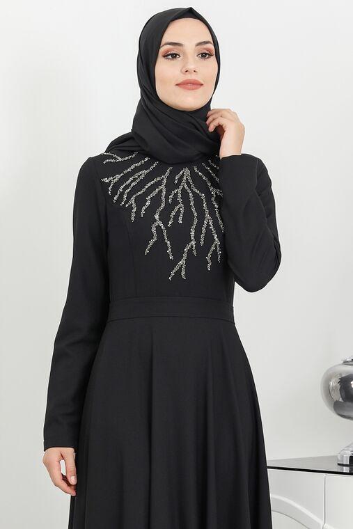 Siyah Hilal Abiye - SUR16270