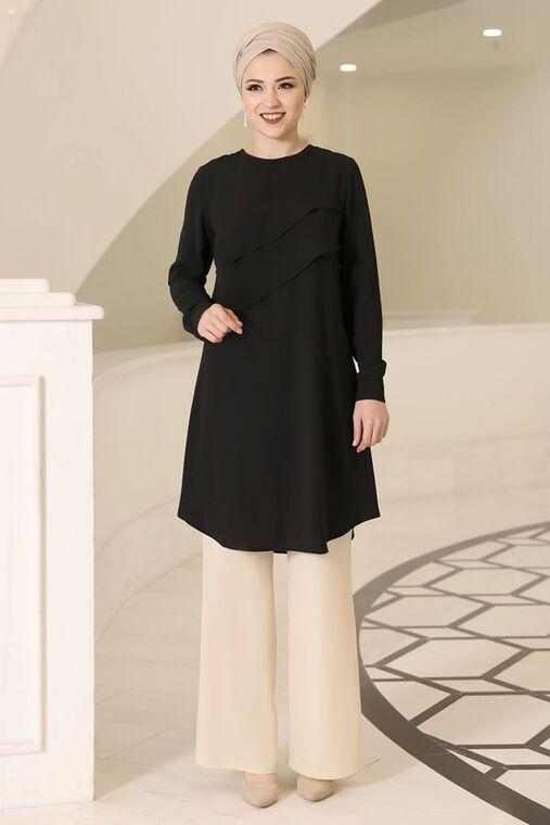 Dress Life - Siyah İkra Tunik - DL16169
