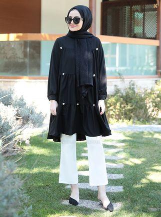 Seda Tiryaki - Siyah İnci Tunik - ST14907