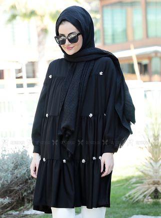 Siyah İnci Tunik - ST14907 - Thumbnail