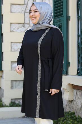 Siyah İpek Tunik - ES15942 - Thumbnail