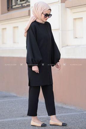 Siyah İrina İkili Takım - ST14159 - Thumbnail